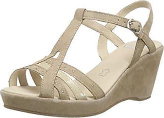 28353 - Sandalias de Punta Descubierta Mujer, Color Beige, Talla 40 UE Caprice