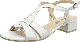 28100, Sandali con Cinturino alla Caviglia Donna, Bianco (White Multi 103), 36 EU Caprice