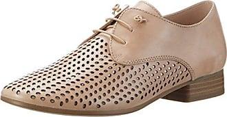 Caprice 23501, Zapatos de Cordones Brogue para Mujer, Plateado (Silver Metal 920), 40 EU