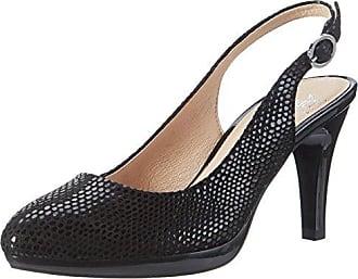 Caprice Chenoa Black Nappa, Schuhe, Absatzschuhe, Pumps, Braun, Grau, Female, 36