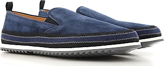 Slip on Sneakers for Men On Sale, Ocean Blue, Suede leather, 2017, 9 Car Shoe