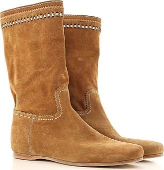 Stiefel für Damen, Stiefeletten, Bootie, Boots Günstig im Outlet Sale, Bernstein, Wildleder, 2017, 36 Car Shoe