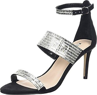Grin NP, Zapatos de Tacón con Punta Abierta para Mujer, Schwarz (Black), 37 EU Carvela