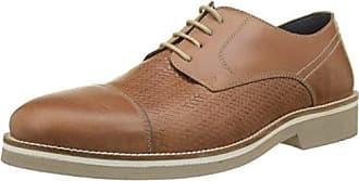CasanovaRudy - Zapatos con Cordones Hombre, Negro (Negro), 43
