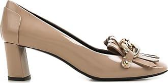 Zapatos de Tacón de Salón Baratos en Rebajas, Gris, Charol, 2017, 37 37.5 38.5 Casadei