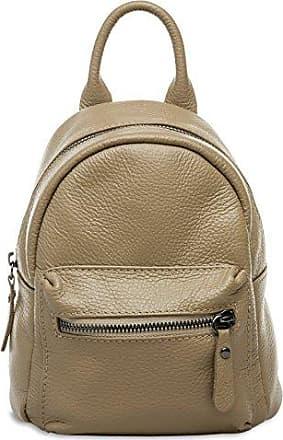 CASPAR TL777 kleiner 2-in-1 Damen echt Leder City Rucksack / kleine Umhängetasche, Farbe:sand;Größe:One Size CASPAR Fashion