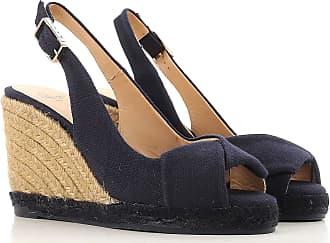 Cuñas para Mujer, Zapatos de Cuña Baratos en Rebajas Outlet, Azul, Soga, 2017, 37 38 Castaner