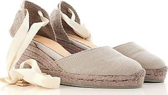 Cuñas para Mujer, Zapatos de Cuña Baratos en Rebajas, Negro, Lona, 2017, 35 36 37 Castaner