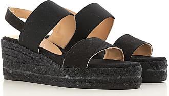 Sandals for Women On Sale, Black, Elastic, 2017, 2.5 3.5 4.5 5.5 7.5 8.5 Castaner