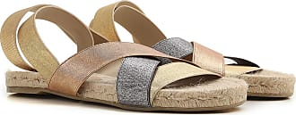 Sandals for Women On Sale, Champagne, Canvas, 2017, 2.5 4.5 5.5 Castaner