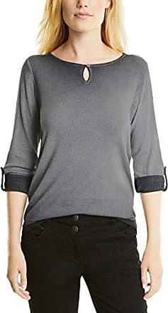 126CC1K073, T-Shirt À Manches Longues Femme, Multicolore (Grey Blue 5), 42 (X-Large)EDC by Esprit