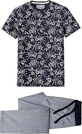 Jipycycle, Conjuntos de Pijama para Hombre, Azul (Navy 250), Small Celio