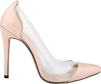 CFP , Damen Durchgängies Plateau Sandalen mit Keilabsatz , beige - beige - Größe: 35.5