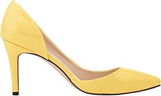 CFP , Damen Durchgängies Plateau Sandalen mit Keilabsatz , gelb - gelb - Größe: 35.5