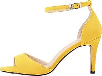 CFP , Damen Peep Toes , gelb - gelb - Größe: 36