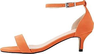 CFP , Damen Peep Toes , orange - Orange - Größe: 37