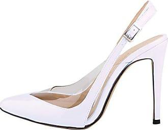 Minitoo Damen Sling Backs, Weiß - Weiß - Größe: 39