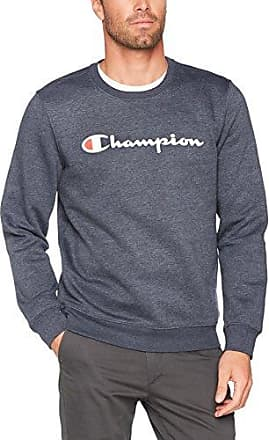 Crewneck Sweatshirt, Sudadera para Hombre, Azul (Zbme Bz508), XL Champion