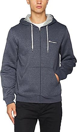 Hooded Full Zip Sweatshirt-C-Logo, Sudadera con Capucha para Hombre, Azul (Zmnb Bz011), Medium Champion