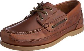 Commodore - Náuticos de cuero hombre, color Marrón - Dark Brown, talla 40 (6 UK) Chatham Marine