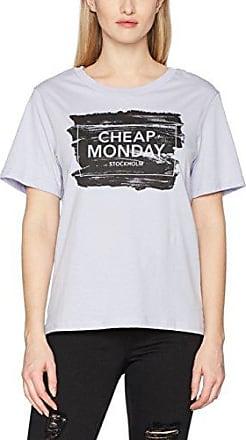 Cheap Monday Power Top Syntax Logo, Camiseta para Mujer, Blanco (White), 36(Tamaño Fabricante: X-Small)
