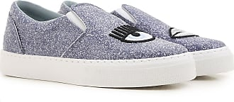 Slip on Sneakers for Women On Sale in Outlet, Black, paillettes, 2017, 2.5 3.5 Chiara Ferragni