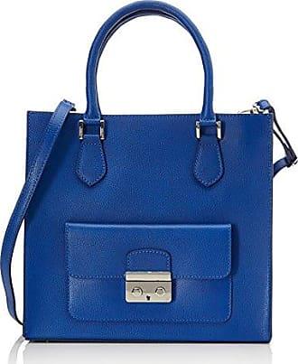 Chicca Borse Sacs à Main Femme, Bleu (Blu), 41 cm