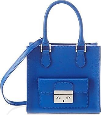 Chicca Borse Sacs à Main Femme, Bleu (Blu), 32 cm