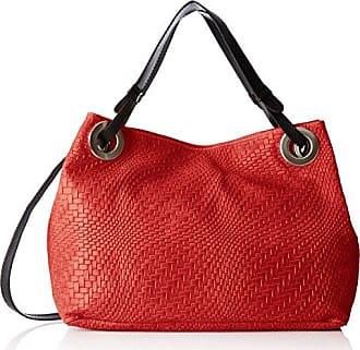 Damen 80058 Umhängetasche, Rot (Rosso), 36x36x13 cm Chicca Borse