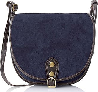 Damen 80046-1 Umhängetasche, Blau (Blu), 40x33x14 cm Chicca Borse