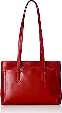 Damen Schultertaschen, Mehrfarbig (Rosso Con Manico Nero), 30 cm Chicca Borse