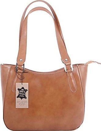 CTM Borsa Donna Hand, Shoulder Bag Elegant, 34x23x10cm, Genuine Leather 100% Made in Italy Chicca Tutto Moda