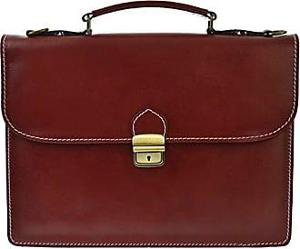 CTM Unisex Business-Tasche, Aktentasche aus echtem Leder hergestellt in Italien D7004 - 38x27x7 Cm Chicca Tutto Moda