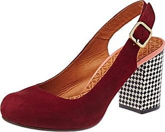 Nansta, Zapatos de Tacón con Punta Cerrada para Mujer, Rojo (Granate-Grape Ante Granate-Maitai Grape), 39 EU Chie Mihara