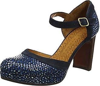 Najo, Zapatos con Tacon y Tira Vertical para Mujer, Azul (Nuit Ante Nuit), 36 EU Chie Mihara