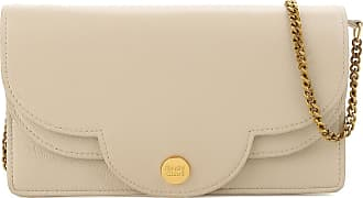 Shoulder Bag for Women, See By Chloe, Dirty White Melange, Leather, 2017, one size Chlo