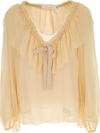 Shirt for Women On Sale, Cream, Silk, 2017, XXS (IT 36) Chloé