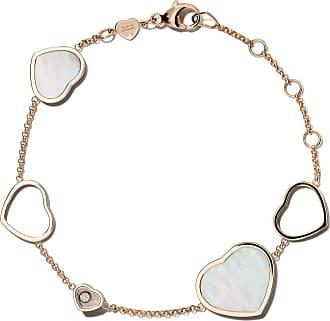 Chopard 18kt rose gold Happy Hearts diamond bracelet - Unavailable CCPq79Dt