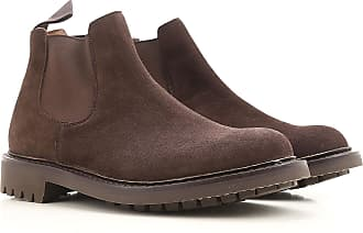 Boots for Men, Booties On Sale, Dark Brown, Suede leather, 2017, 6.5 Churchs