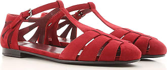 Sandals for Women On Sale, Red, Suede leather, 2017, 7.5 Churchs