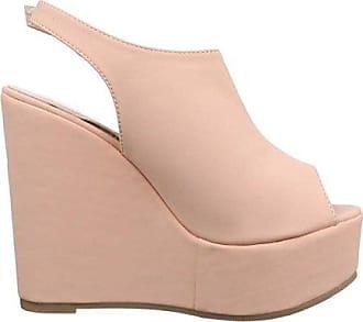 Damen Sandaletten/Leichter Keilabsatz/Damenschuhe/Sommerschuhe/Keilabsatz/Pink/Rosa, EU 38 Cingant