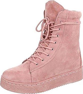 Cingant Woman Damen Stiefelette/Flache Sohle/Blockabsatz/Halbhohe Stiefel/Damenschuhe/Pink/Rosa, EU 37