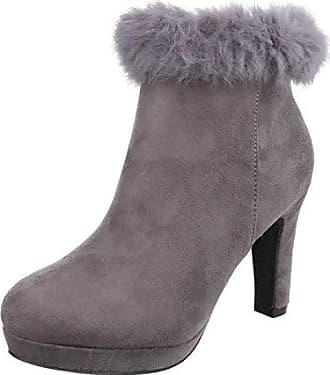 Cingant Woman Damen Stiefelette/High Heels/Elegante Damenschuhe/Halbhohe Stiefel/Ankle Boots/Schwarz, EU 40