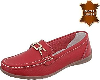 Damen Loafers Schuhe Mokassins Plateau Leder Slipper Halbschuhe Casual Sneaker Weiß 37 68FiWnV9H