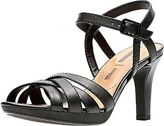 Clarks Adriel Wellig Womens Heels Sandalen 7 D (M) UK/41 EU Schwarz 5bX951YQde