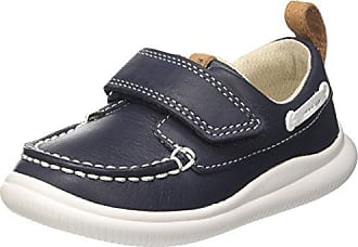 Clarks Cloud Snap, Mocasines para Niños, Azul (Navy Leather), 20.5 EU