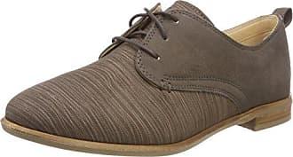Alice Mae, Zapatos de Cordones Brogue para Mujer, Beige (Sand Combi), 35.5 EU Clarks