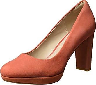Clarks Kendra Sienna, Escarpins Femme, Orange (Coral Suede), 41.5 EU