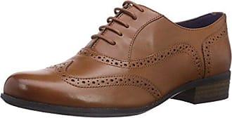 Clarks Hamble Oak, Zapatos de Cordones Brogue para Mujer, Beige (Nude Patent), 37.5 EU