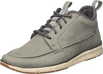 Clarks Orson Mid, Sneakers Basses Homme, Gris (Grey Nubuck), 42 EU